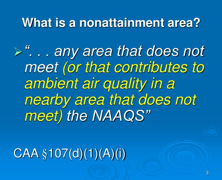 What is a nonattainment area