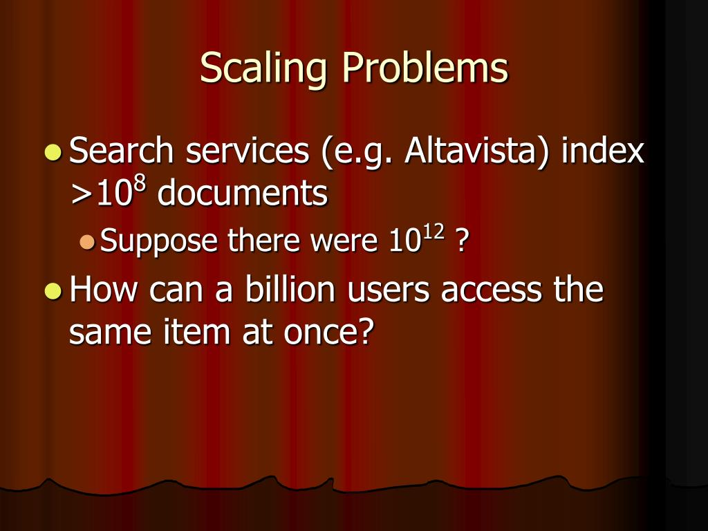 Scaling Problems