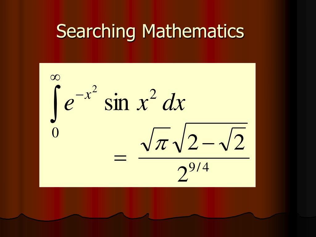 Searching Mathematics