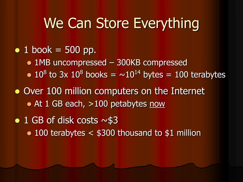 We Can Store Everything