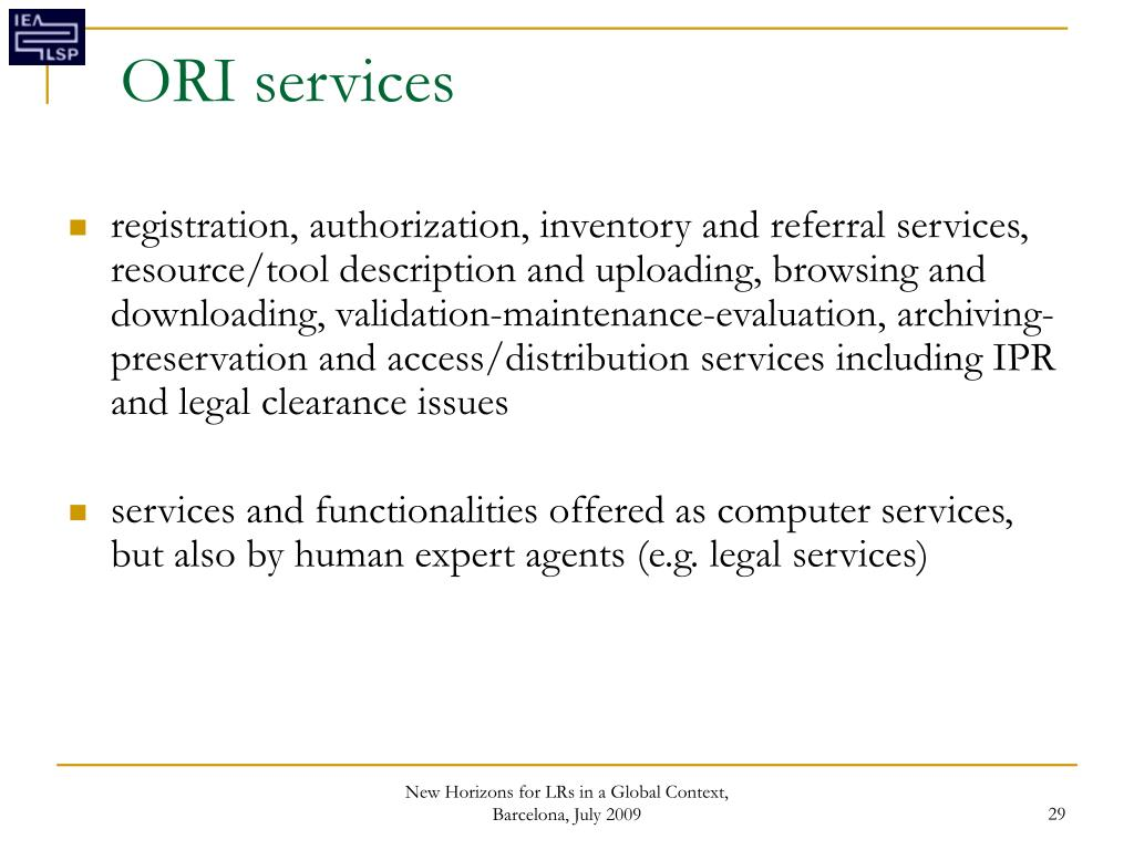 ORI services