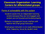 classroom organization learning centers for differentiated groups31