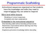 programmatic scaffolding