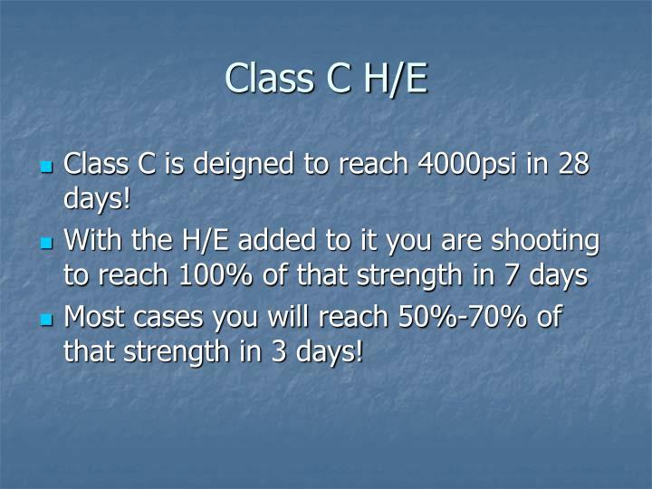 Class C H/E