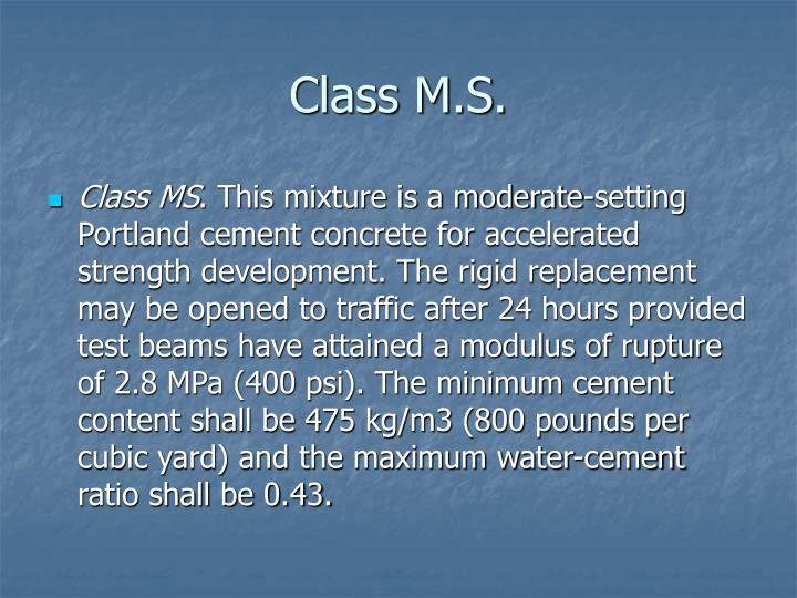 Class M.S.