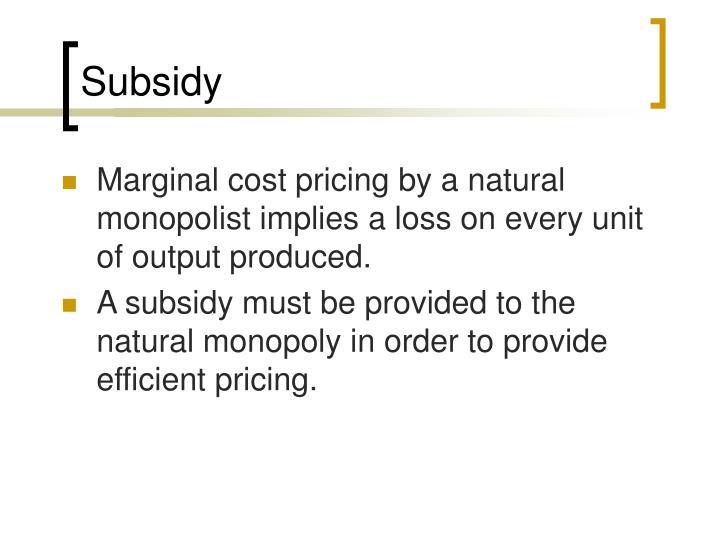 Subsidy