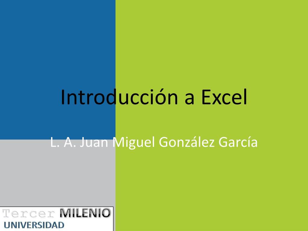 Introducción a Excel