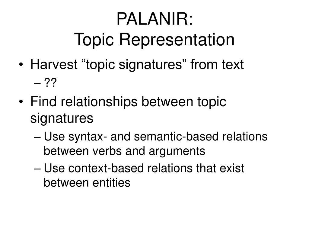 PALANIR: