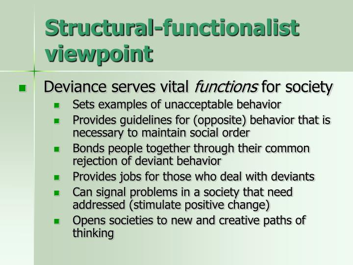Structural-functionalist viewpoint