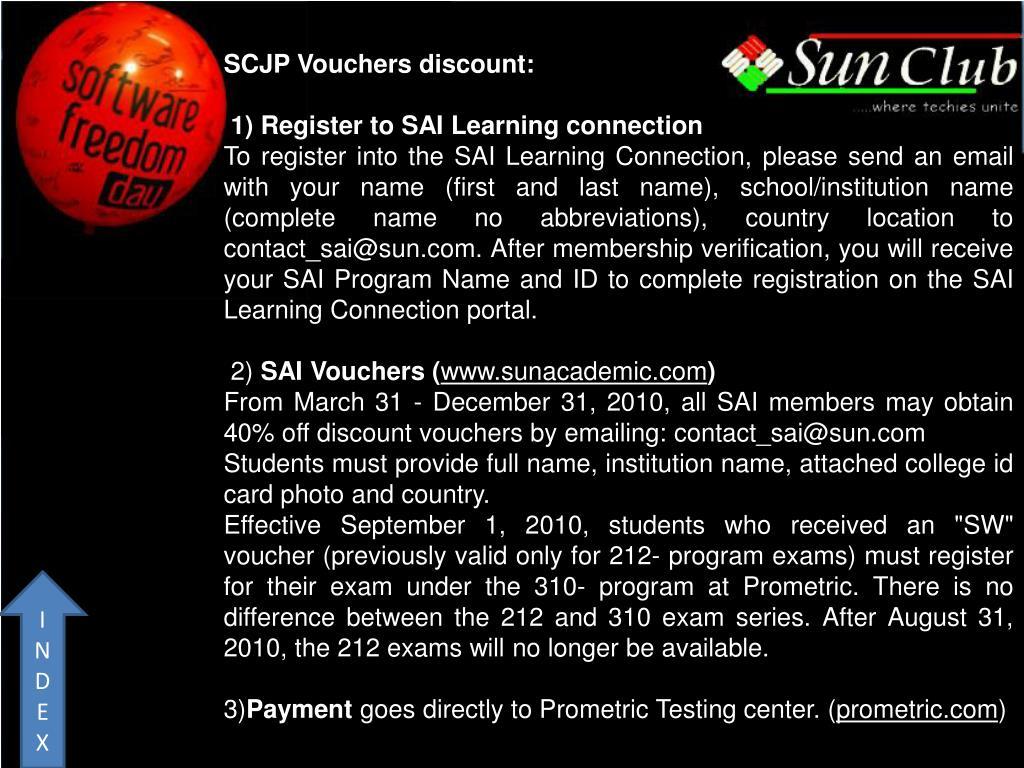 SCJP Vouchers discount: