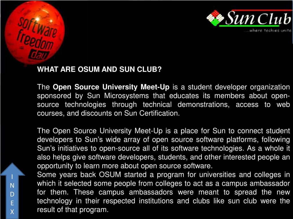 WHAT ARE OSUM AND SUN CLUB?