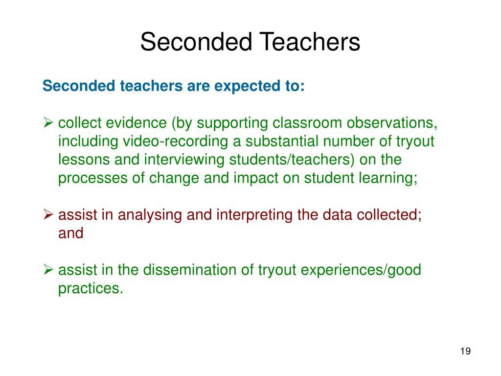 Seconded Teachers