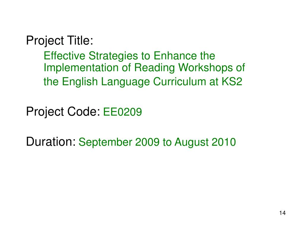 Project Title:
