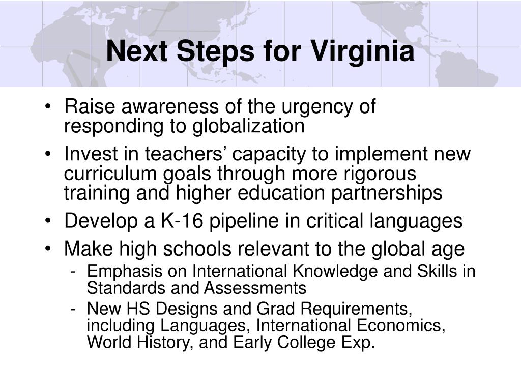 Next Steps for Virginia