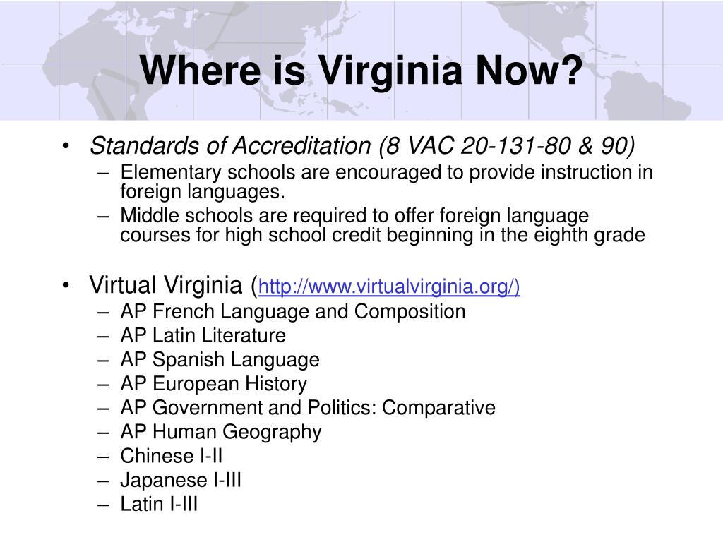 Where is Virginia Now?