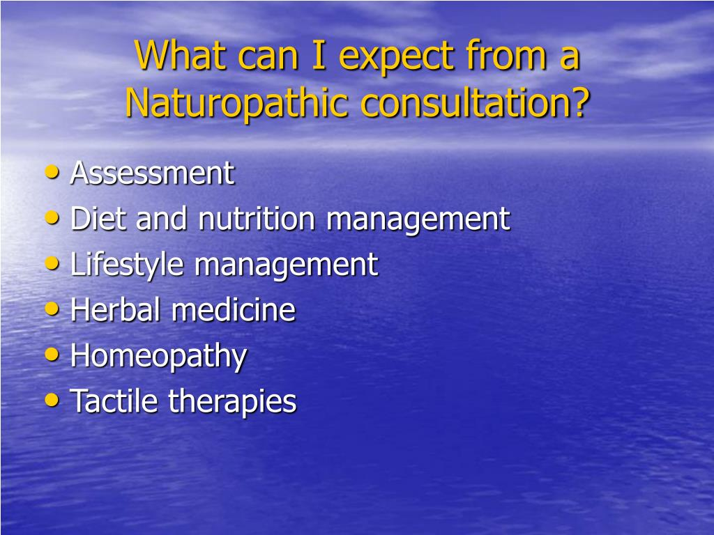 What can I expect from a Naturopathic consultation?