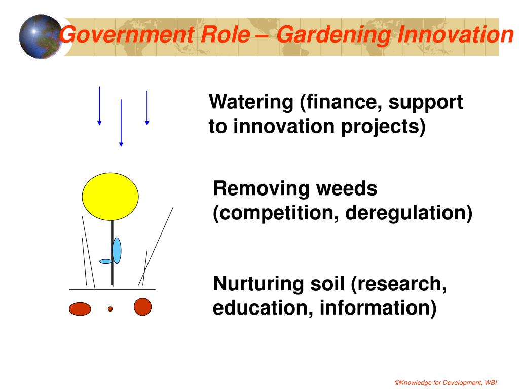 Government Role – Gardening Innovation