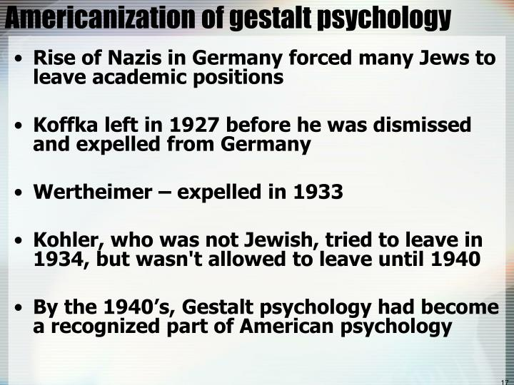 Americanization of gestalt psychology