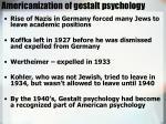 americanization of gestalt psychology1