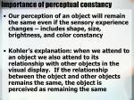 importance of perceptual constancy