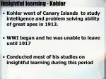 insightful learning kohler