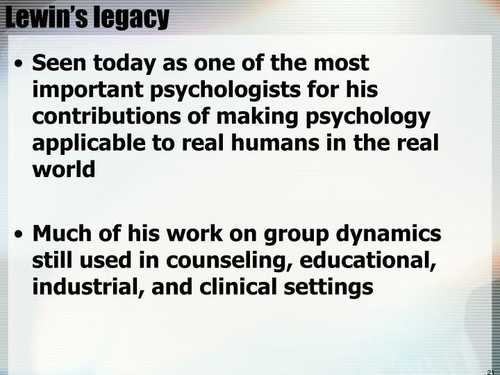 Lewin's legacy