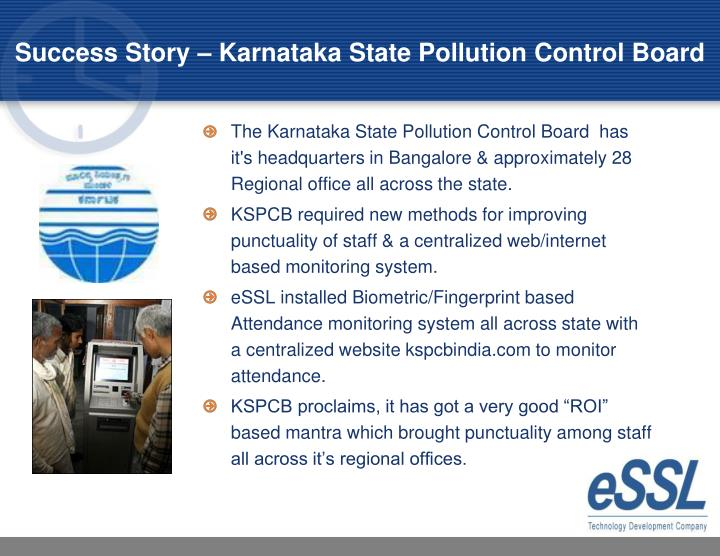 Success Story – Karnataka State Pollution Control Board