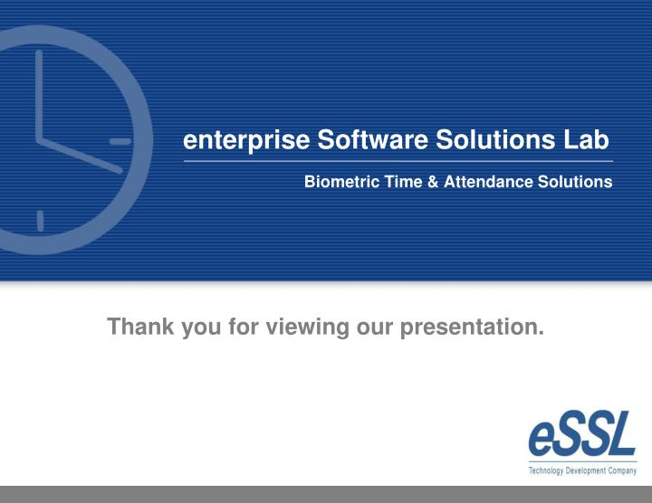 enterprise Software Solutions Lab