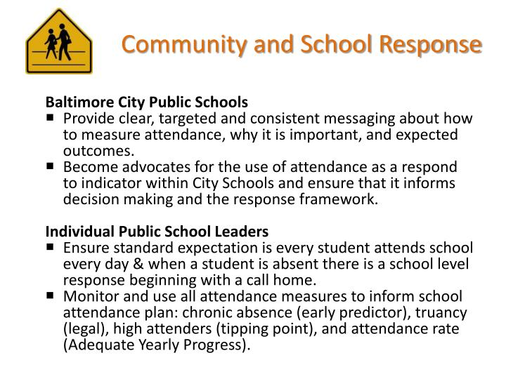 Community and School Response