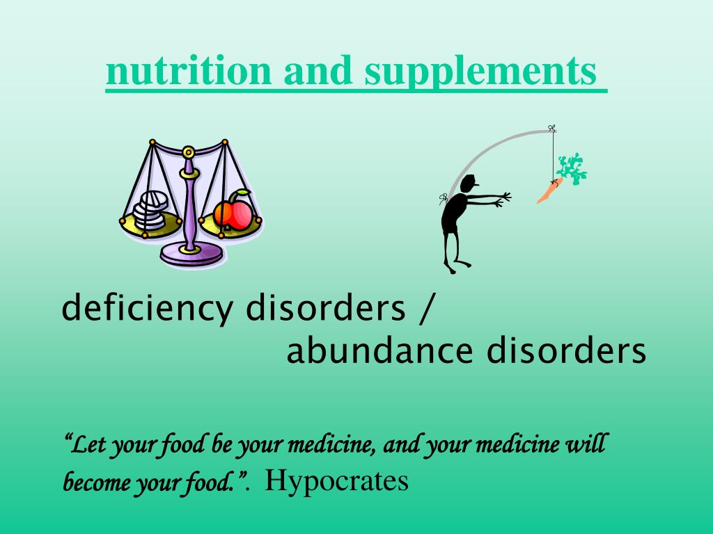 nutrition and supplements
