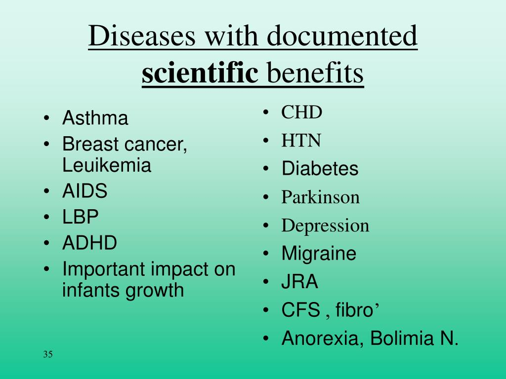Diseases with documented