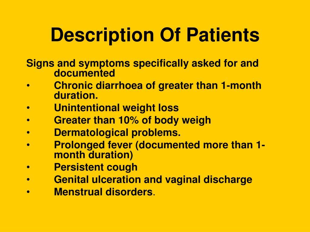 Description Of Patients
