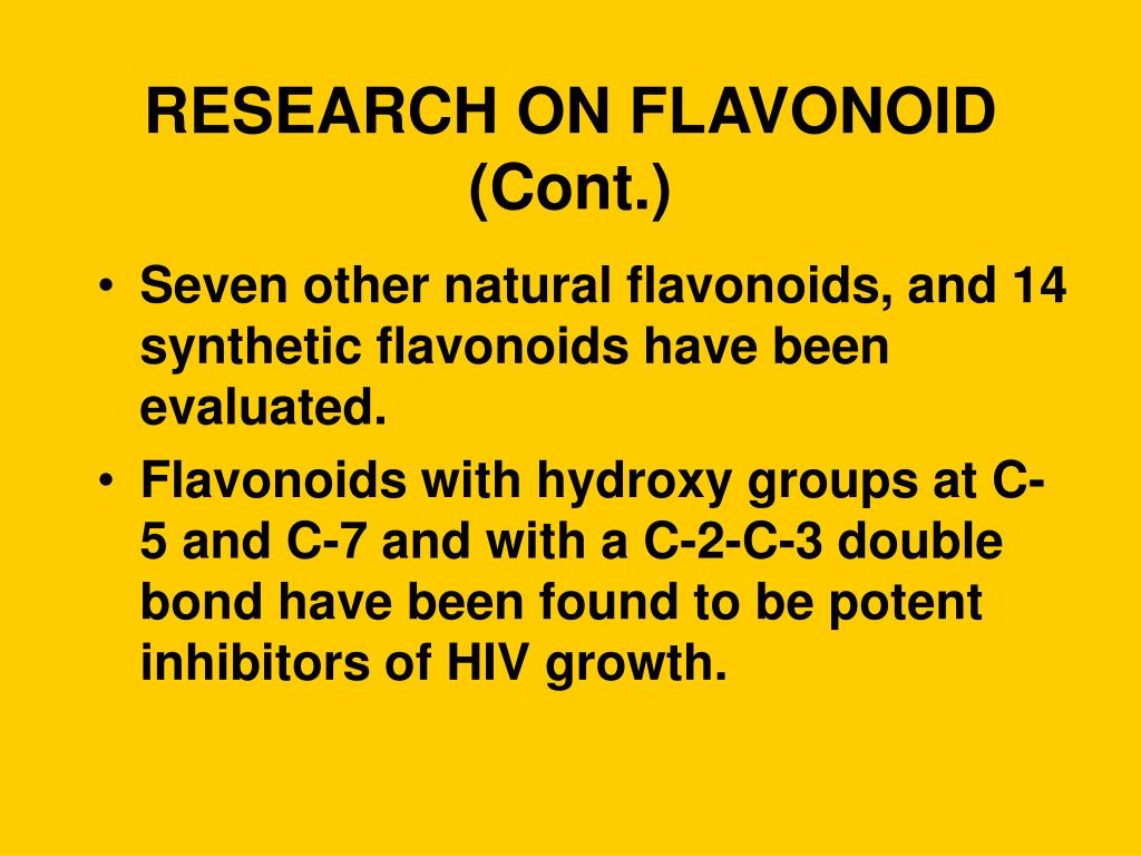 RESEARCH ON FLAVONOID (Cont.)