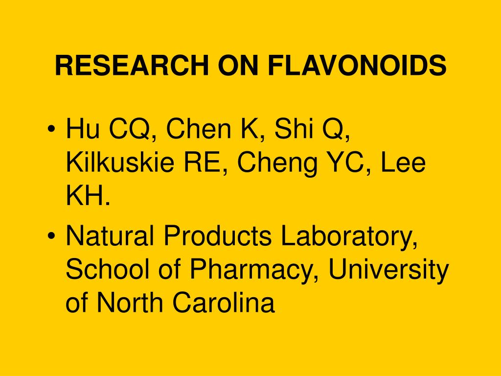 RESEARCH ON FLAVONOIDS