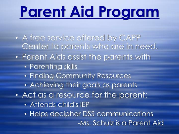 Parent Aid Program