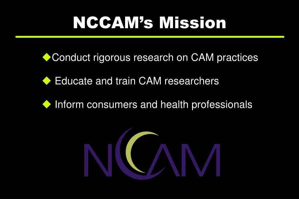 NCCAM's Mission