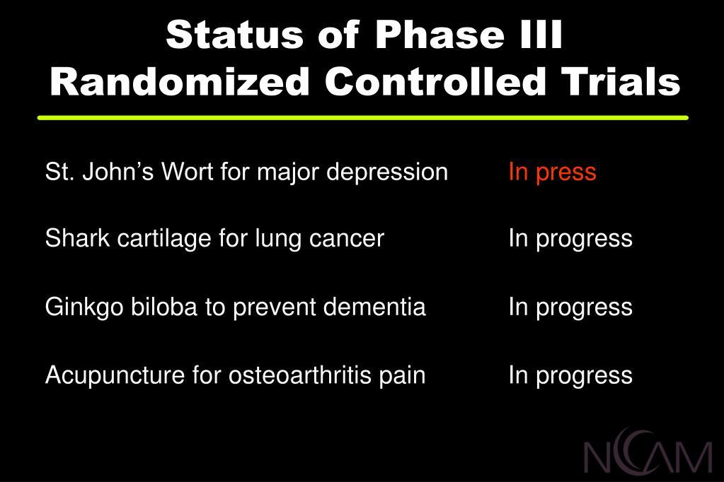 Status of Phase III