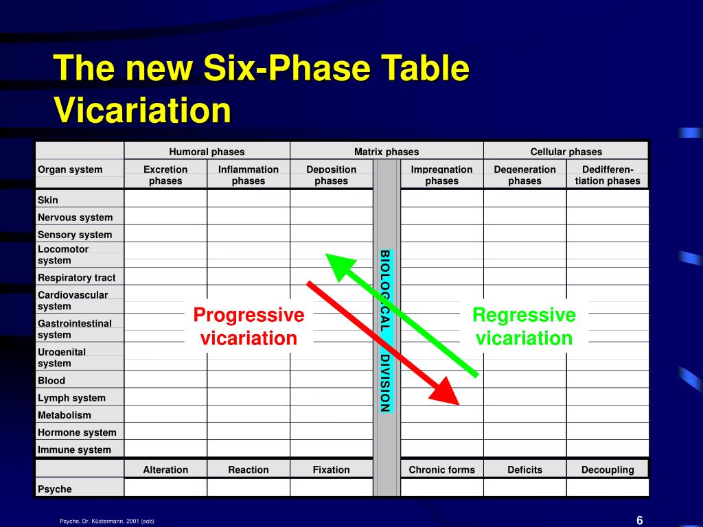 The new Six-Phase Table