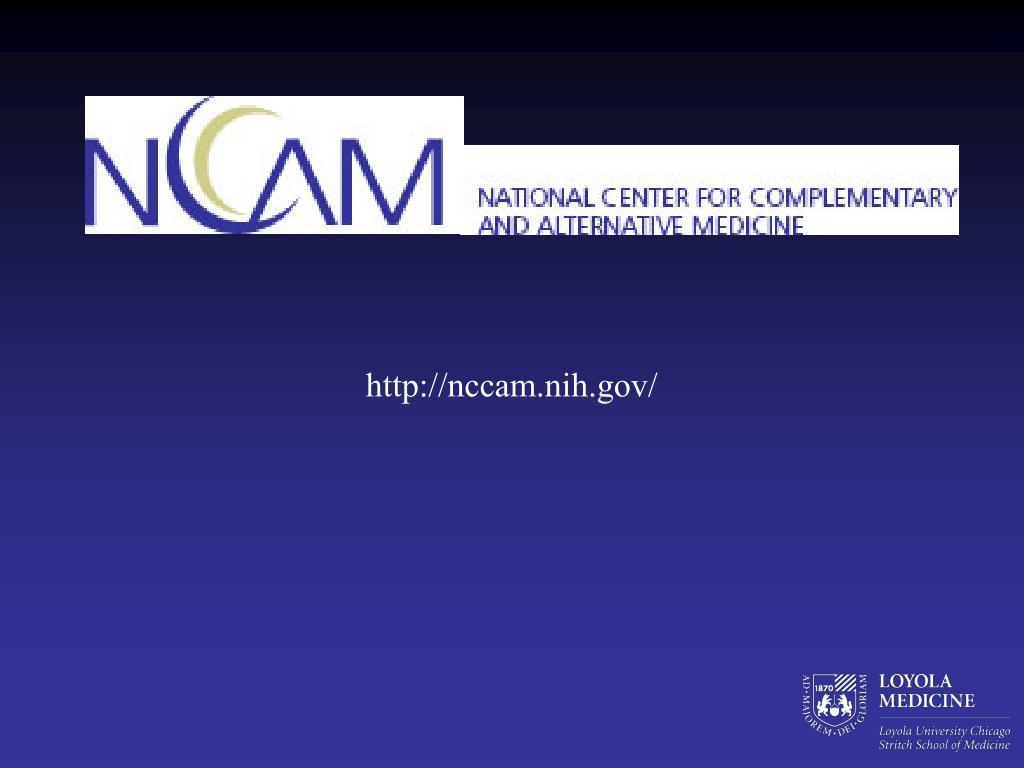 http://nccam.nih.gov/