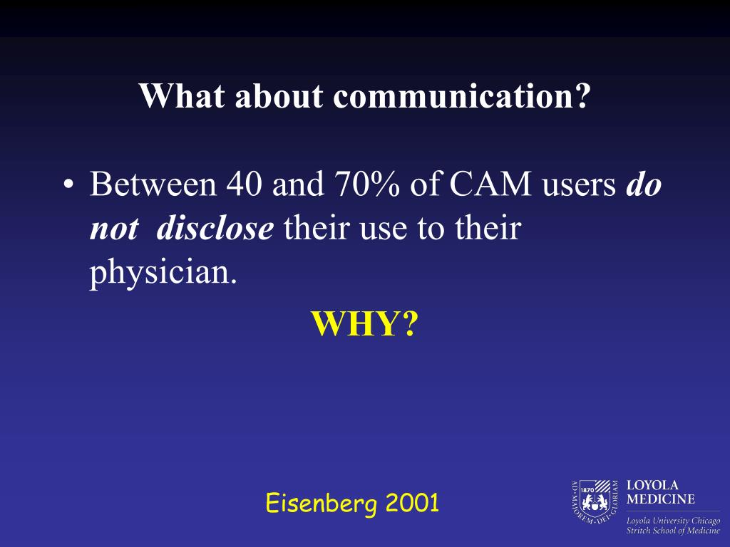 What about communication?