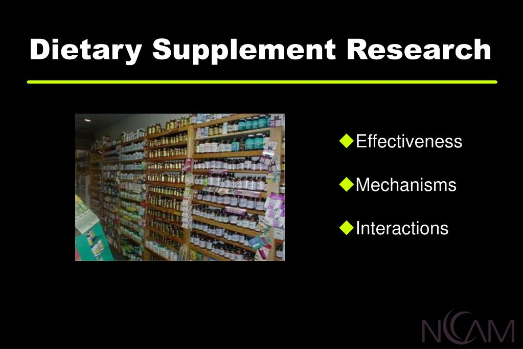 Dietary Supplement Research