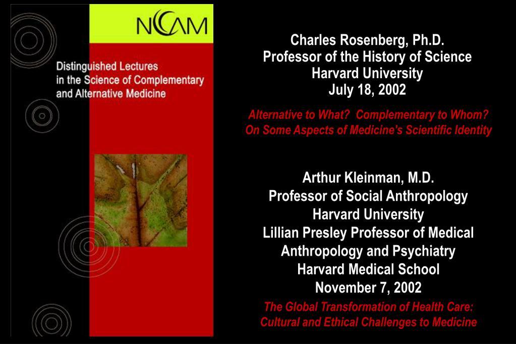 Charles Rosenberg, Ph.D.