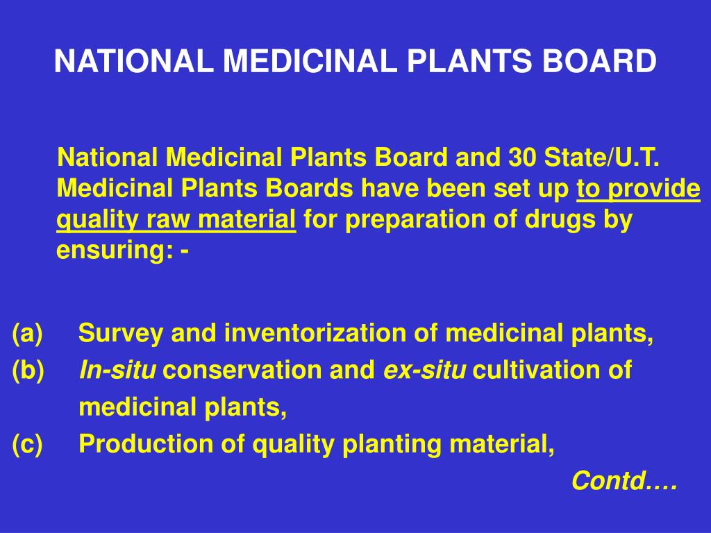NATIONAL MEDICINAL PLANTS BOARD