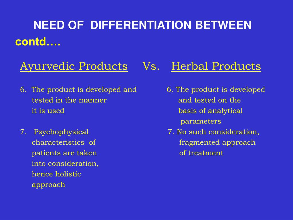 NEED OF  DIFFERENTIATION BETWEEN