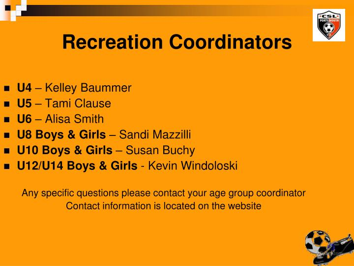 Recreation Coordinators