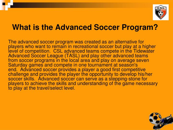 What is the Advanced Soccer Program?