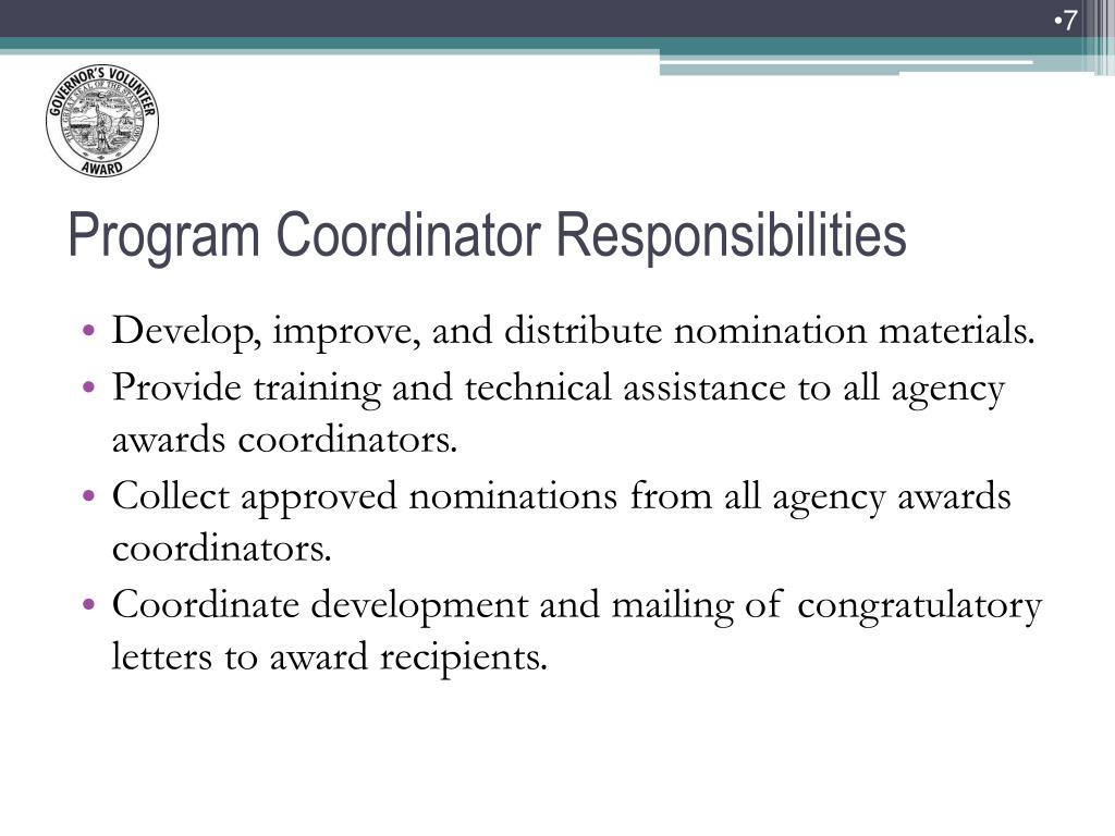 Develop, improve, and distribute nomination materials.