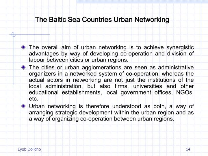 The Baltic Sea Countries Urban Networking