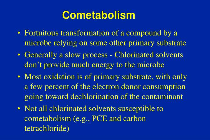Fortuitous transformation of a compound by a microbe relying on some other primary substrate