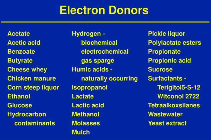 Electron Donors